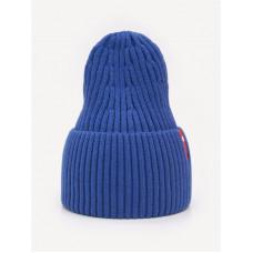 Зимняя шапка цвет т.васильковый, ТМ Артель