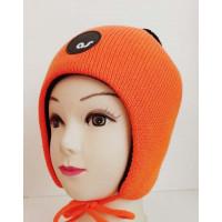 Зимняя шапка цвет оранжевый неон, ТМ Артель