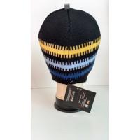 Зимняя шапка цвет черный/голубой, ТМ Артель