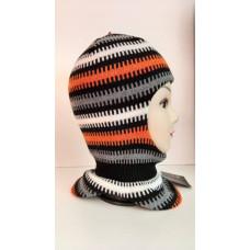 Зимний шлем-шапка черный/оранжевый Артель