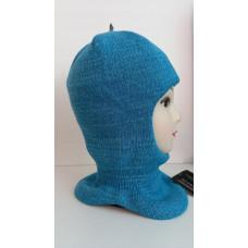 Зимний шлем-шапка т.бирюзовый/бирюзовый Артель