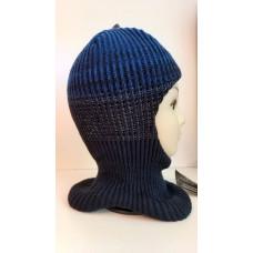 Зимний шлем-шапка т.синий/васильковый Артель