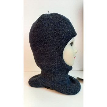 Зимний шлем-шапка синий/т.серый Артель