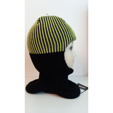 Зимний шлем-шапка салатовый/чёрный Артель