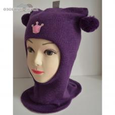 Зимний шлем-шапка  Beezy  Принцесса 100% шерсть