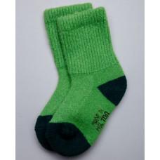 Носки детские из верблюжьей шерсти цвет зеленый
