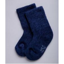 Носки детские из верблюжьей шерсти цвет синий