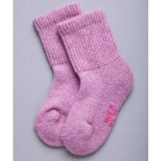 Носки детские из верблюжьей шерсти цвет розовый