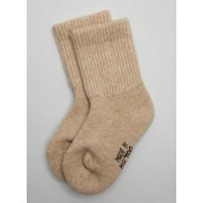 Носки детские из верблюжьей шерсти цвет бежевый