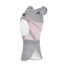"""Шлем-шапка для девочки """"Рена"""" Oldos цвет серо-розовый"""