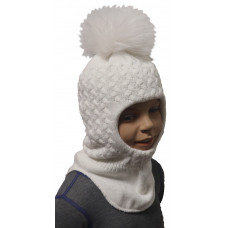 "Зимний шлем-шапка  ""Юта"" цвет белый"