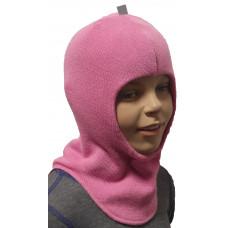 """Демисезонный шлем-шапка  """"Диана"""" цвет розовый"""