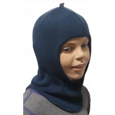 """Демисезонный шлем-шапка  """"Наир"""" цвет синий"""