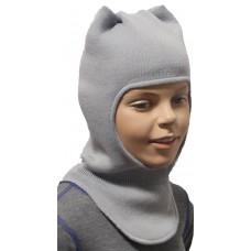 "Зимний шлем-шапка  ""Вара"" цвет серый"