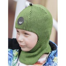 Шлем  демисезонный. Зелёный,  Артель ТМ