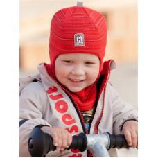 Шлем  демисезонный. Красный меланж Артель ТМ