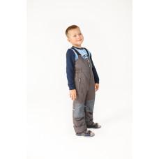 Зимний  полукомбинезон для мальчика и девочки цвет серый графит