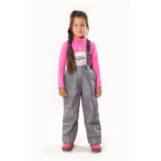 """Демисезонные брюки """"Непоседы"""" утеплитель 80 гр., цвет т.серый"""