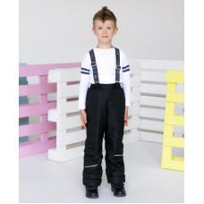 """Демисезонные брюки """"Непоседы"""" утеплитель 100 гр., цвет черный"""