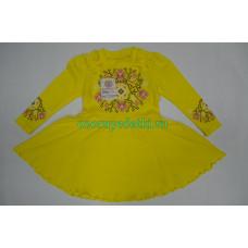 """Платье """"Злата""""с шелкографией (интерлок)"""
