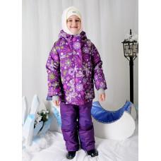 """Зимний мембранный комплект """"Бабочки"""" цвет фиолет S&O Collection"""