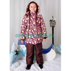 """Зимний костюм для девочки из мембранной ткани """"Одуванчики"""""""