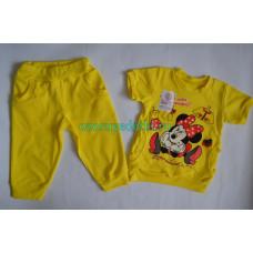 """Костюм футболка+бриджи """"Арина"""" с шелкографией, ткань интерлок, 100% хлопок,"""